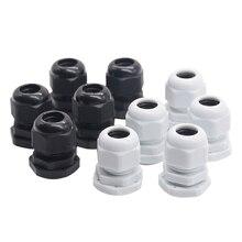 10 шт./лот IP68 M12x1.5 для 3-6,5 мм M16x1.5 M20x1.5 M22 провода кабель CE белый/черный водонепроницаемый нейлон пластик кабельный ввод Разъем