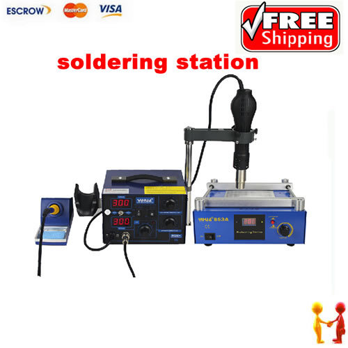 Best Combination lead free BGA soldering station system, YIHUA 853A preheating station + YIHUA 862D+ Desoldering station 853a bga constant temperature lead free preheating stations
