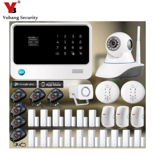 YobangSecurity APP Control WIFI GSM Alarm G90B Touch Screen Home Burglar Security Alarm System with IP Camera