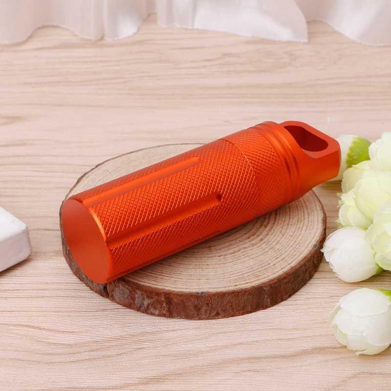 المحمولة مفيدة مقاوم للماء صندوق لحبوب الدواء من المعدن حامل زجاجة الطب حبوب منع الحمل الحالات الخائن 1 قطعة البرتقال والأسود والأخضر