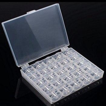 Boîte de rangement en plastique pour Machine à coudre | Bobines de bobines de Machine à coudre, boîte de rangement en plastique pour accessoires de couture domestique 25 pièces