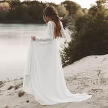 Женское шифоновое свадебное платье it's yiiya белое кружевное