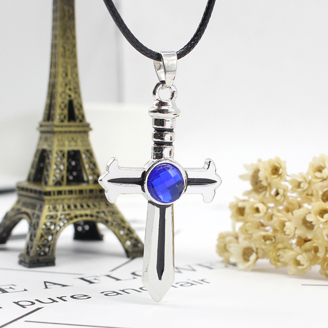 Fairy Tail Cross Inlaid Necklace