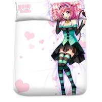 Hobby Express Momo Velia To Love Ru Japanese Bed Blanket or Duvet Cover with Two Pillow Cases H0316
