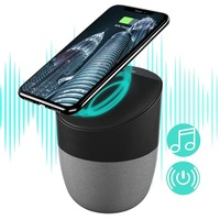Bluetooth Speaker with Qi Wireless Charging Pad Super Bass Stereo Wireless Speakers for iPhone X/8/8plus Android Samsung S8