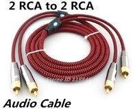 1 m 2 m 3 m 5 m-2 RCA à 2 RCA Mâle Phono Blindé stéréo Audio Câble Pour Subwoofer DVD Haut-Parleur TV AV RCA Câble Fil Cordons
