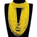 11 Colores Cuello Estilo Creativo 22 Capas Cadena Colgante, Collar Babero Resina Moldeada Hecha A Mano Collares Granos de la Joyería Del Partido