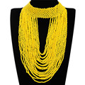11 Colors Collar Creative 22 Layers Chain Style Bib Pendant Necklace Resin Handmade Beaded Necklaces Party Beads Jewelry