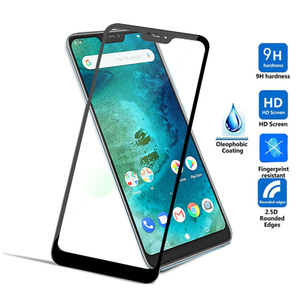 Image 2 - Protective Glass on For Xiaomi mi a2 lite light Full Cover on xiomi mia 2 light Screen Protector Tempered Glass for redmi 6 pro