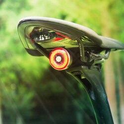 Rowerowe tylne światła rowerowe inteligentne Taillight USB akumulator wodoodporny MTB szosowe światła tylne tylna lampa akcesoria rowerowe
