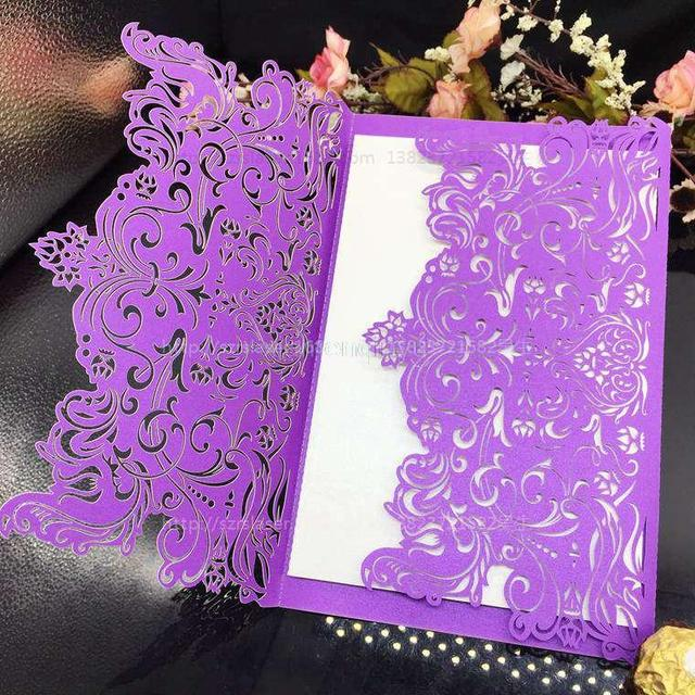 10pcs Wedding Invitation Card Favor Glasses Hollow Pattern Invitations Suppliers Free Shipping 5z SH073