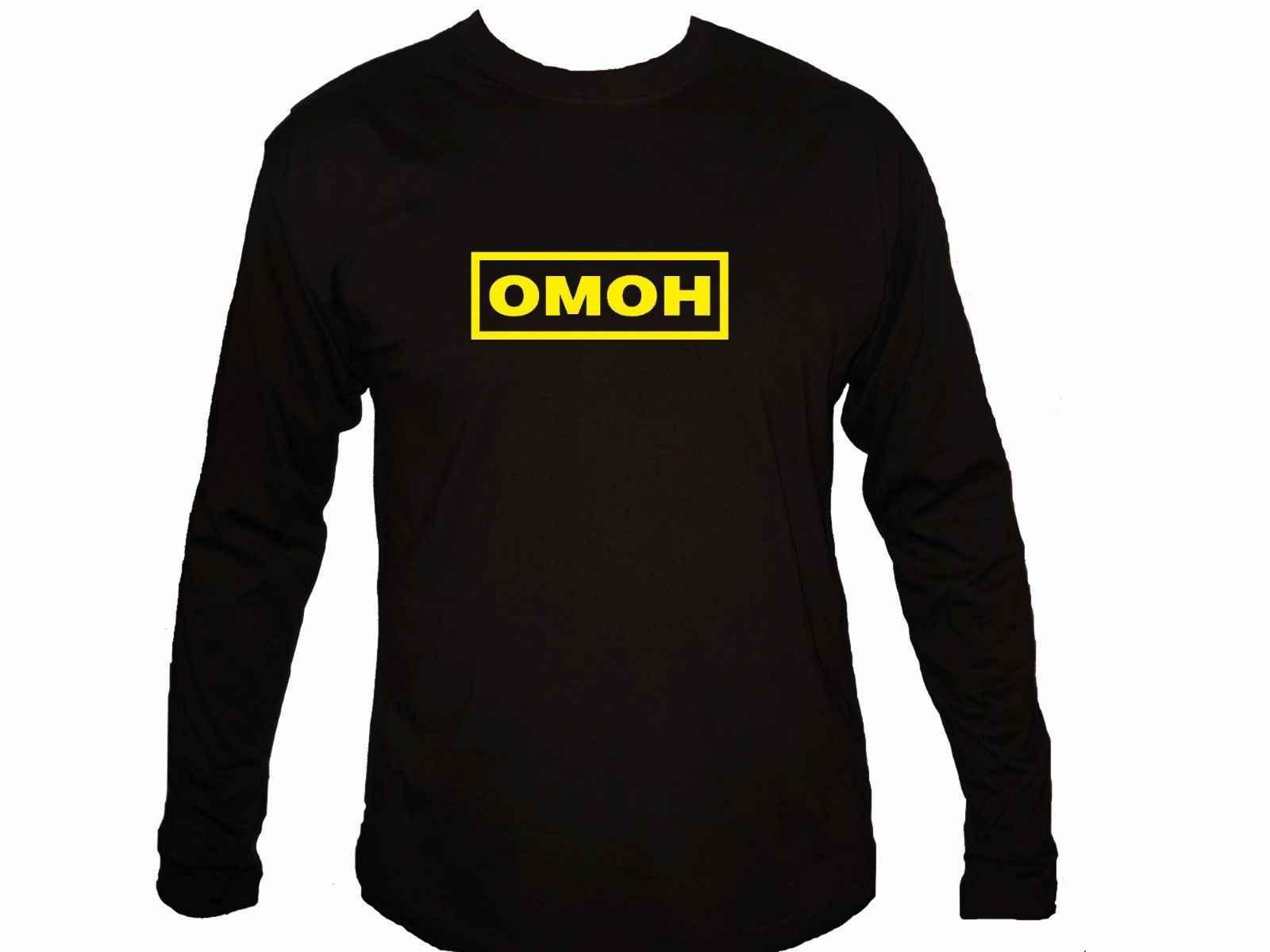 Camiseta de manga larga informal con mangas Omon SWAT especial CCCR URSS ruso CCCP