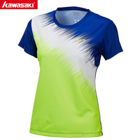 KAWASAKI Summer Sports Shirts Gym Fitness Women T Shirt Short Sleeve Running Badminton Tennis T Shirt ST T2026