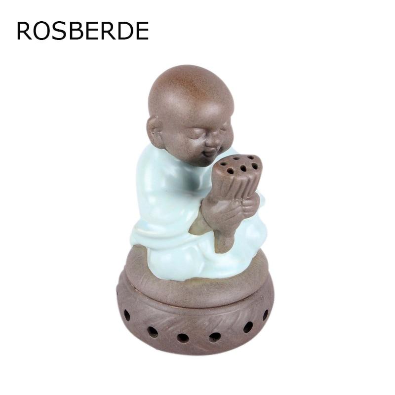 Tea pet Ceramic Incense Burner Budda Burner Wishing Monk sandalwood home decor figurine buddha wishing candle furnace base
