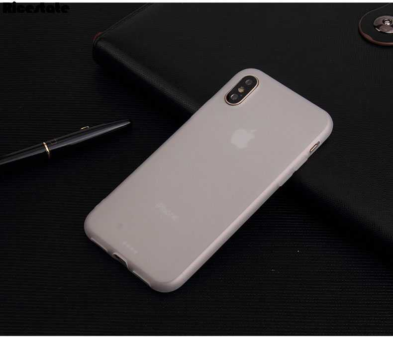 Funda para iphone 11 Pro 7 6 6s 8 Plus funda para iphone X XR XS 11 Pro Max Simple sólido ultrafino suave TPU Color caramelo funda
