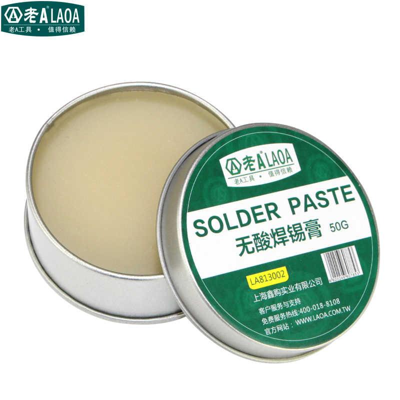 Laoa 25G 50G Tidak Ada Asam SMD Solder Paste Flux Grease SMT IC 10cc Alat Perbaikan Solder PCB