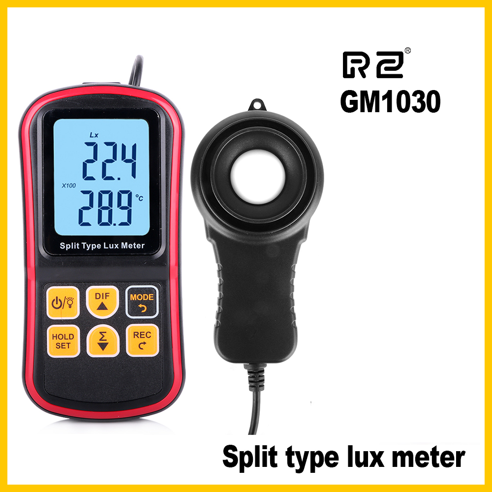 LCD Luxmeter Digital Light Meter measurement Tester Luxmeter Split Type Handheld Illuminometer 0-200000 Lux GM1030