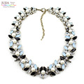 New Arrival fashion chunky luxury bubble simulated pearl pendant choker Necklace statement  jewelry Z collar necklace & pendant