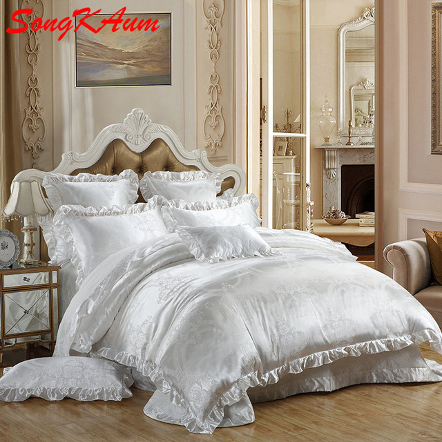 Charming Luxury Gorgeous Style Tencel Silk Bedding Set For Five Star Hotel  Quilt/Duvet Dover
