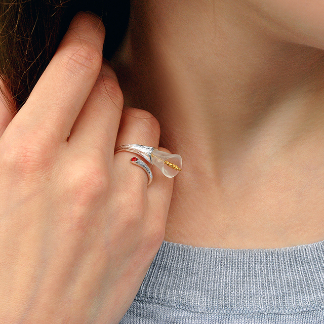 Calla Lily Handmade Flower Ring4