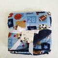 2016 Nova Cor engrossar dupla camada de cobertores Do Bebê coral fleece swaddle infantil bebe envoltório envelope cobertor da cama de bebê recém-nascido