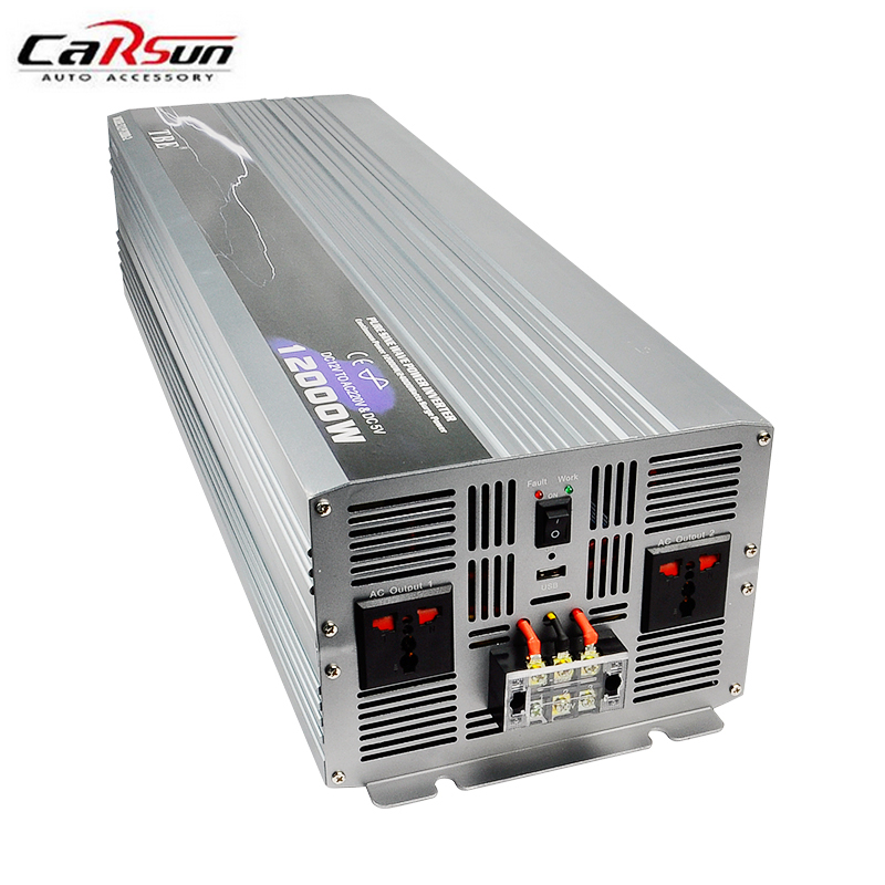 цена на 12000W Inverter DC 12V/24V/48V to AC 220V Pure Sine Wave PV Inverter Off Grid Solar/Wind Power Inverter Solar Inverter