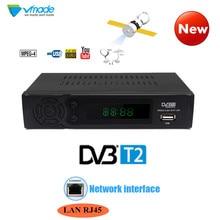 DVB T2 тюнер HD телеприставки наземного ТВ тюнер ресивера Поддержка Lan RJ45 MPEG4 FTA HDMI PAL ТВ коробка для России/Европа/Украина