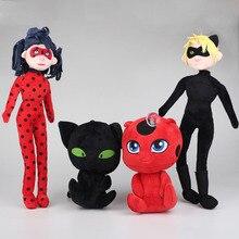 15-40cm Miraculous Ladybug Plush Toys Doll Plagg and Tikki Cat Noir Lady Bug Adrien Marinette Plush Pendant Soft Stuffed Toys
