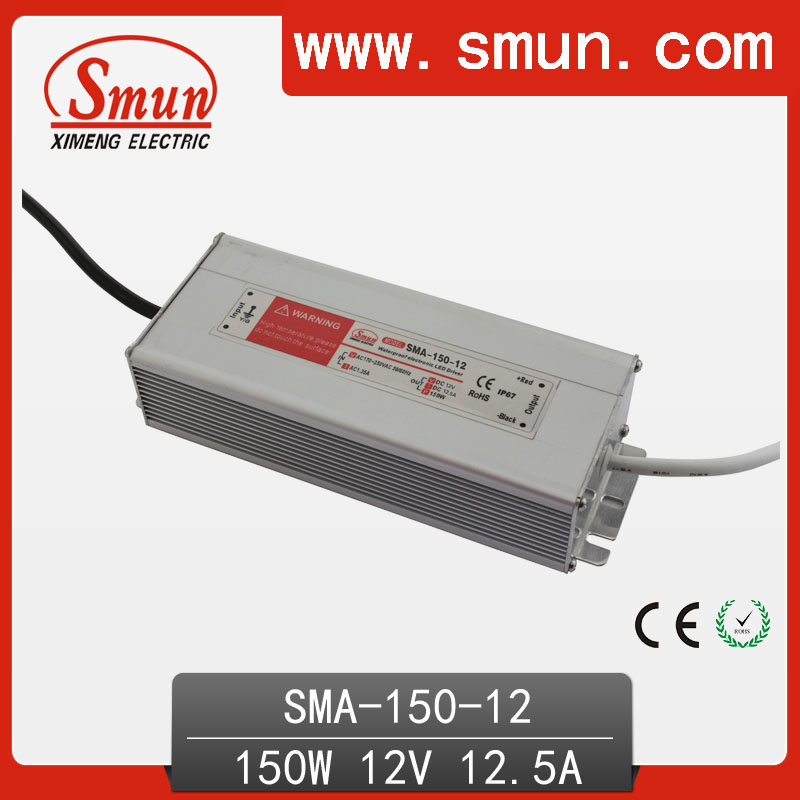 150W6-12A 12.5A constant current waterproof IP67 LED driver switching power supply for led strip light CE ROHS 1 year warranty 70w led driver dc54v 1 5a high power led driver for flood light street light constant current drive power supply ip65