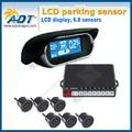 Free Shipping Dual-core LCD Car led parking sensor kit display 8 sensors/ radar de recul 8 sensors Parking Assistance
