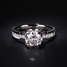 925 sterling silver 1ct 2ct 3ct Round Brilliant Cut Ring VVS1 Diamond Moissanite ring Engagement jewelry Anniversary Ring недорого