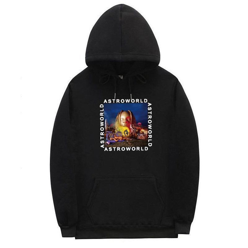 New Print Travis Scotts ASTROWORLD Hoodies Men And Women Hip Hop Streetwear Hoodies Sweatshirt Male Plus Size S-2XL