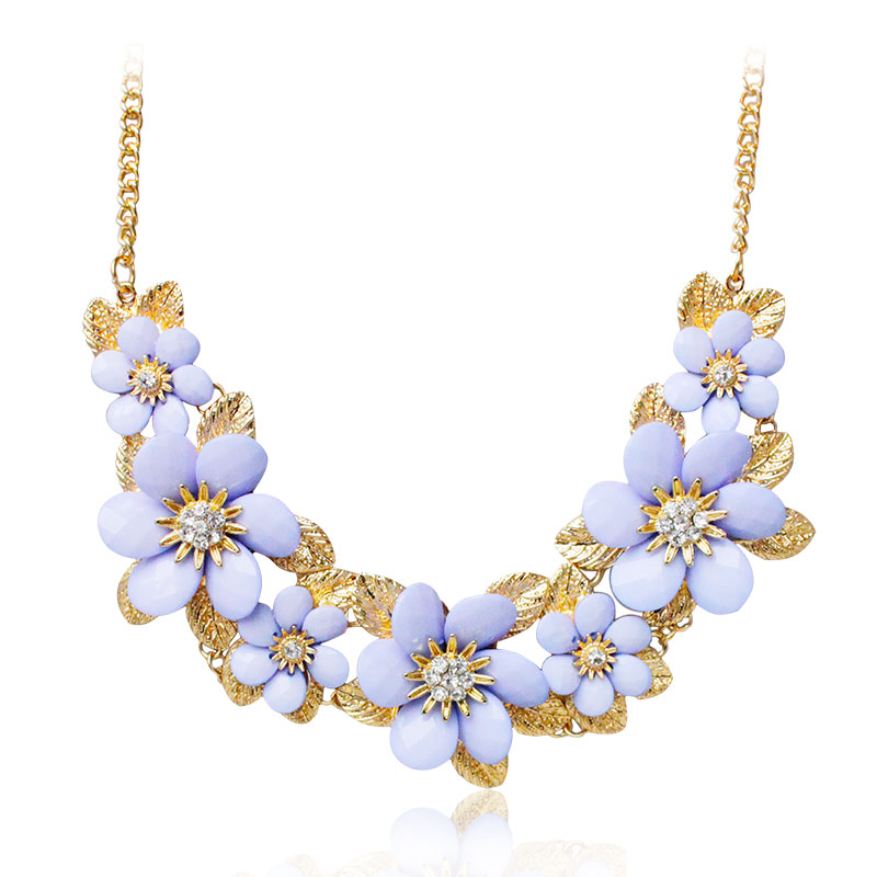 FampU New 2016 Spring Fashion Show Statement Necklace Summer