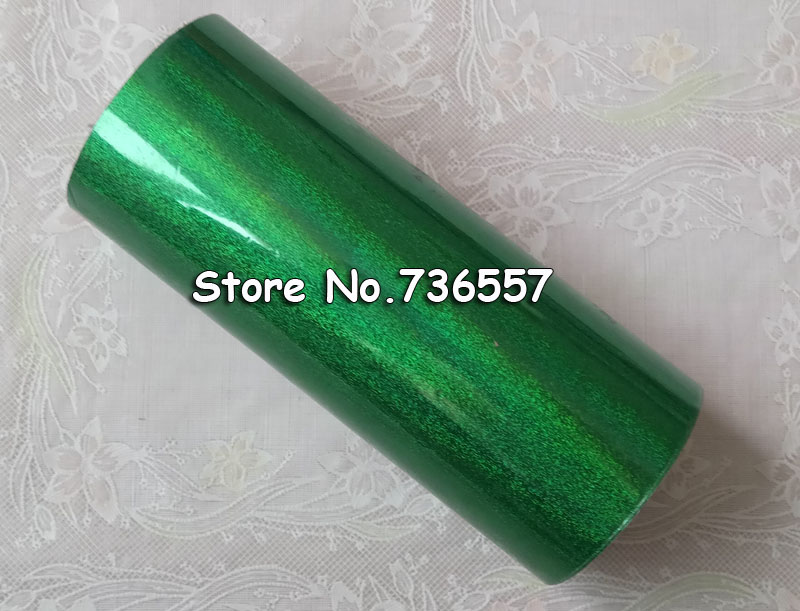 Hot stamping foil Holographic foil hot stamping on paper or plastic 16cm x 120m green sand color [4 rolls] hot stamping foil holographic foil hot stamping on paper or plastic 16cm x 120m laser sand golden silver green pink