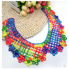 Vintage colorful lace embroidered collar choker necklace fake womens clothing accessories sweet false