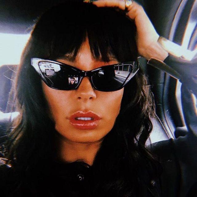 f2f4b2adc66cd 2018 Gato Olho óculos de Sol de Moda de Nova Bonito Sexy Ladies Mulheres  Marca Do