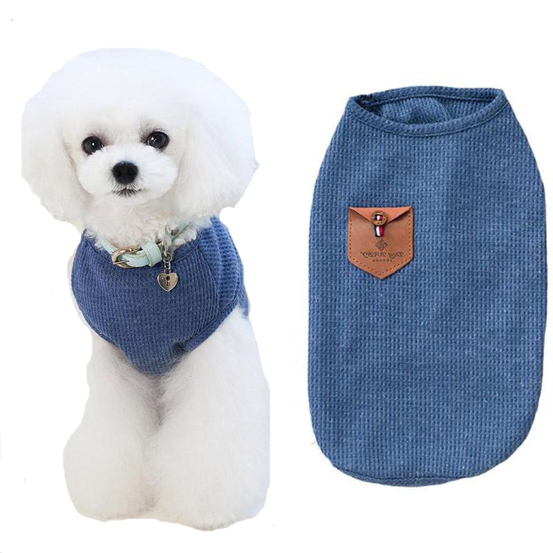 Misterolina Cotton Dog Vest Chihuahua Clothes Summer Solid