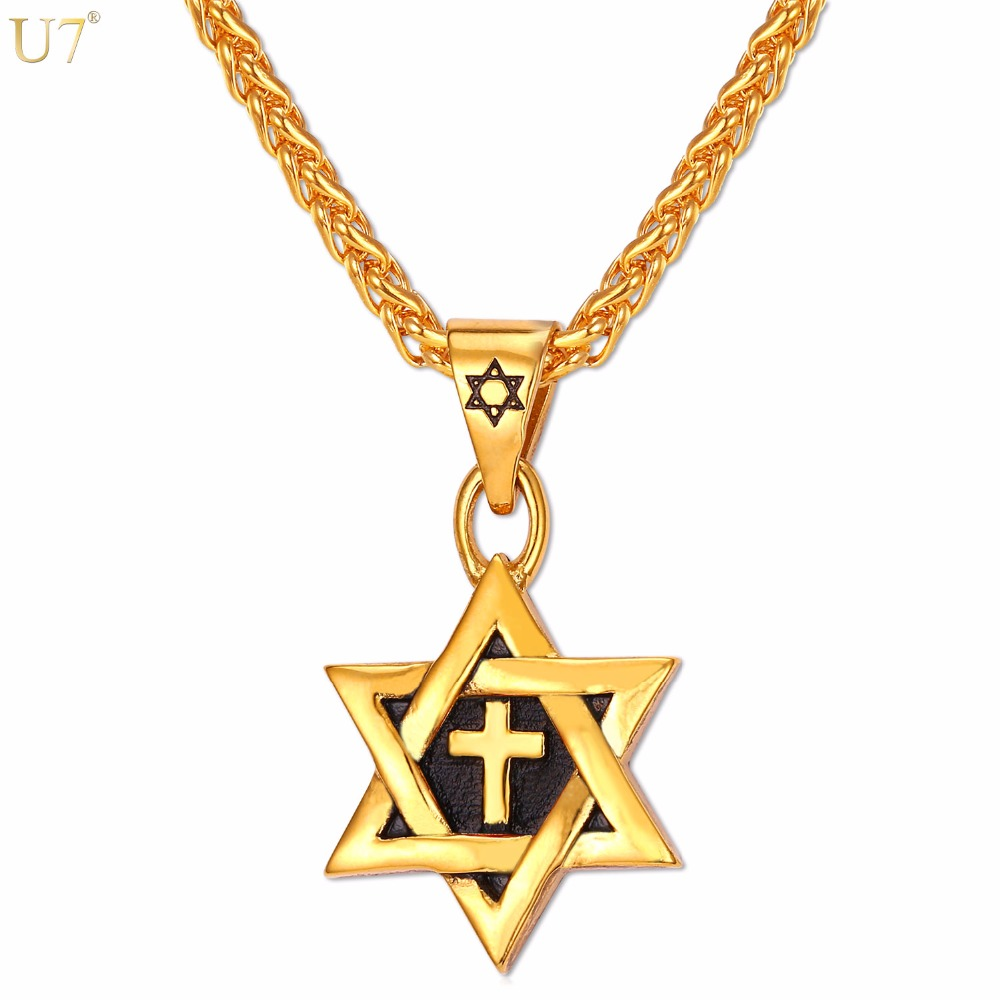 necklace pendant star miracle wondrous gold plated magen for david men karat of ideas best