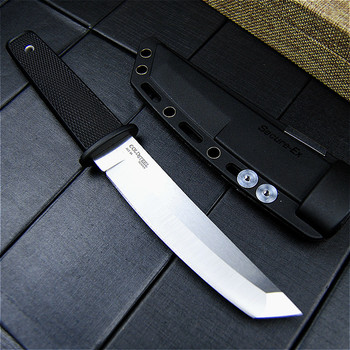 EVERRICH Cold Steel Hunting Fixed Blade Knife 440 Stainless Steel Long Kraton Plastic Handle Outdoor Tactical Knife ABS Sheath