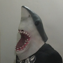 The highest selling Fancy Dress Ideal Classic Realistic Animal Latex Shark Mask for Halloween props
