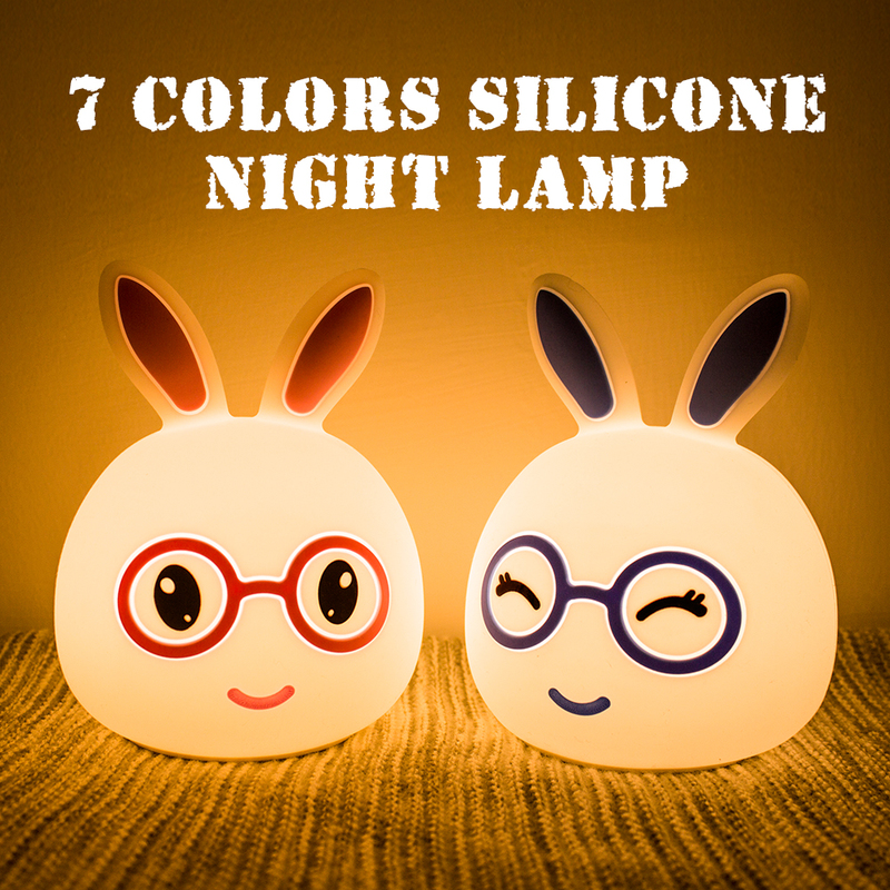 Lights & Lighting 2018 Silicone Rabbit Led Night Light 7 Colors Usb Touch Sensor Soft Cute Cartoon For Children Baby Kids Novelty Christmas Gift Led Lamps