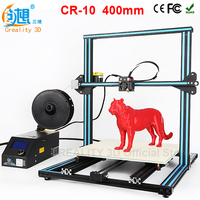 CREALITY 3D CR-10 DIY 3d Printer kit metal Large printing size 400*400*400mm High Precision Makerbot Structure Filaments Gift