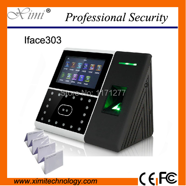 TCP/IP time attendance access control with backup battery and rfid card smart face access controller