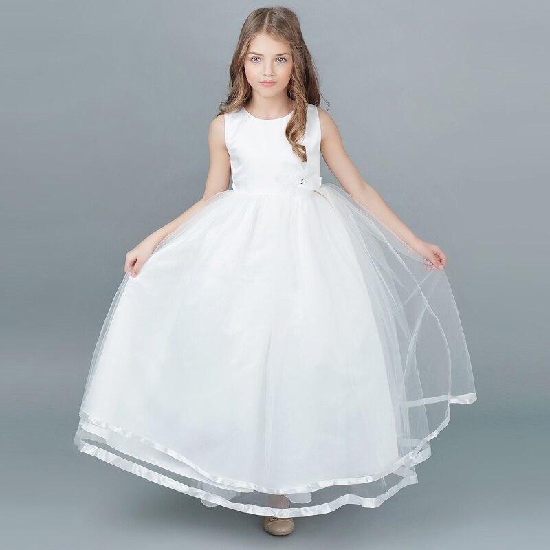 Aliexpress.com : Buy Flower Girl Dress For Wedding Long White Kids ...