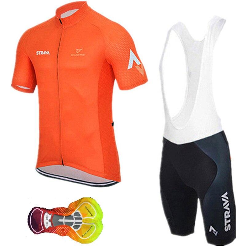 Verão ciclismo jerseys 2019 strava men team cycle wear manga curta roupas de bicicleta maillot ropa ciclismo roupas