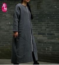 Зимой 2016 новые продукты, высокого класса оригинальный дизайн простой леди большие дворы длинный хлопок-проложенный одежды пальто