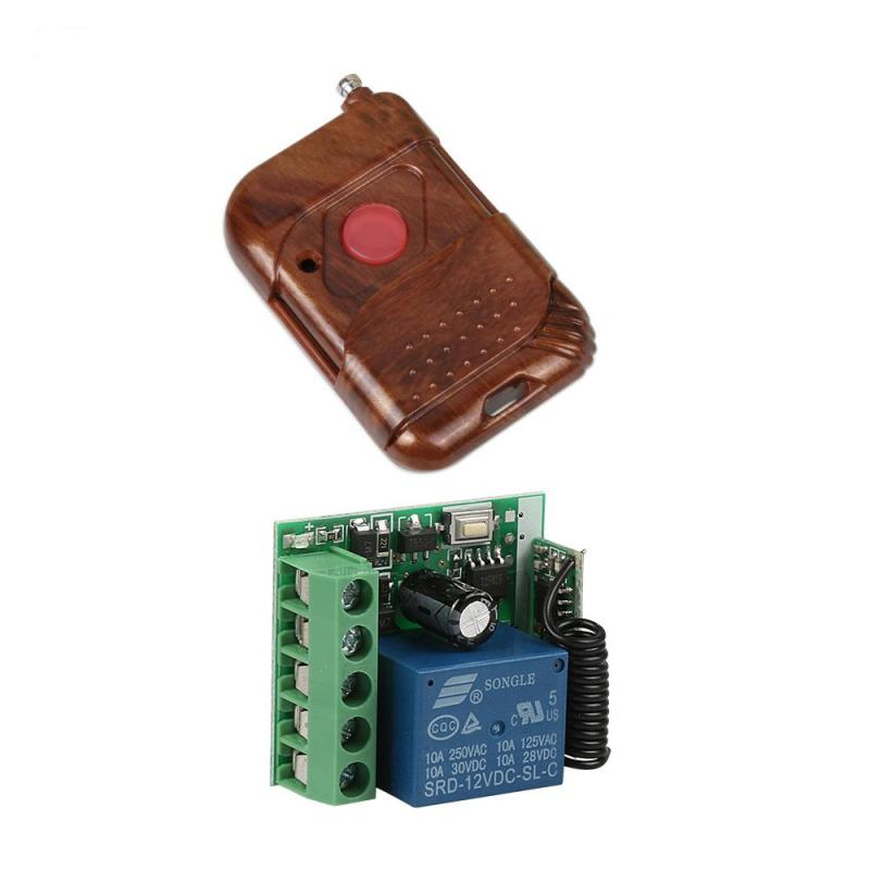 DC 12V 433MHz Wireless 1-Channel RF Remote Control Switch Relay Receiver Module 433 MHz Transmitter Key Fob Learning Code1527