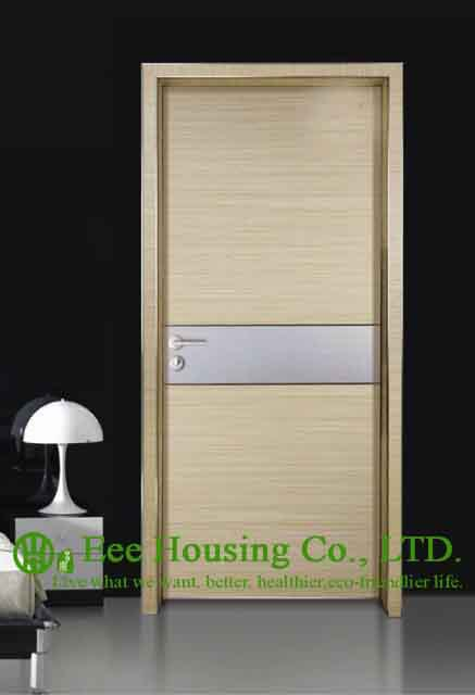 Aluminum Alloy Water Resistance Interior Restaurant Door,Simple Style Aluminium Room Door