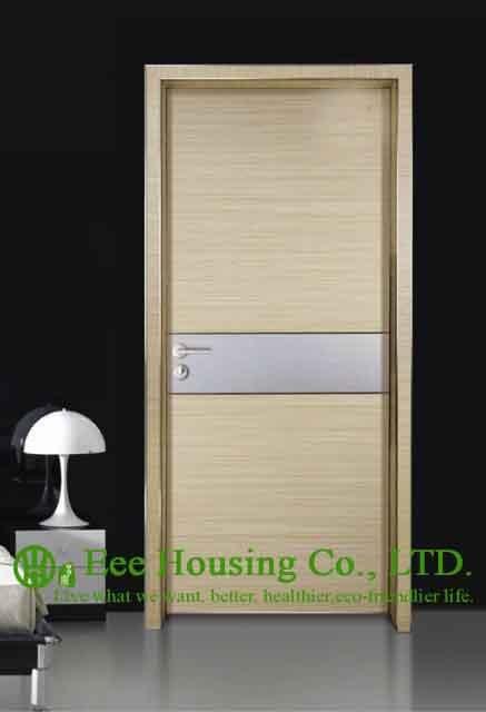 Aluminum Alloy Water Resistance Interior Restaurant Door,Simple Style Aluminium Room Door