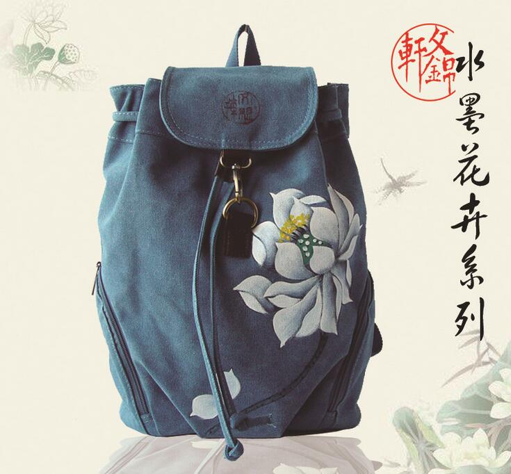 new bag 062917 women fashion backpack double shoulder chinese national bag